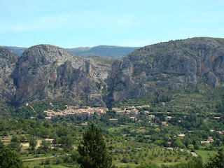 The village of Moustiers Ste Marie, gateway to the Verdon Gorges