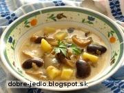 Fazuľová polievka nakyslo so šampiňónmi - recept
