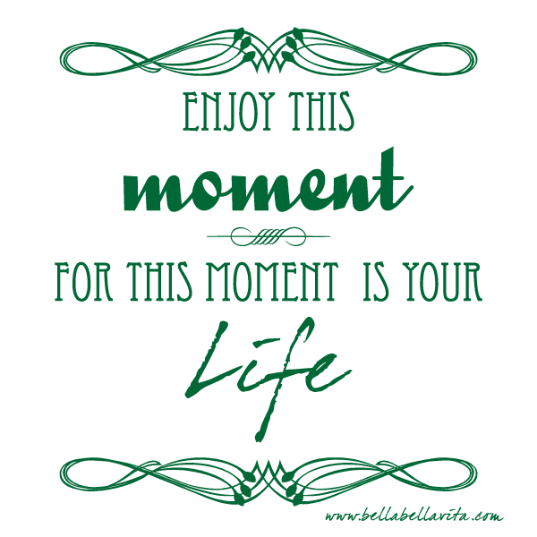 """enjoy this moment for this moment is your life"" quote"