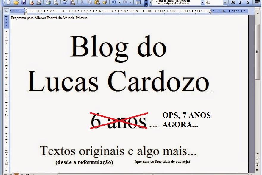 BLOG DO LUCAS CARDOZO
