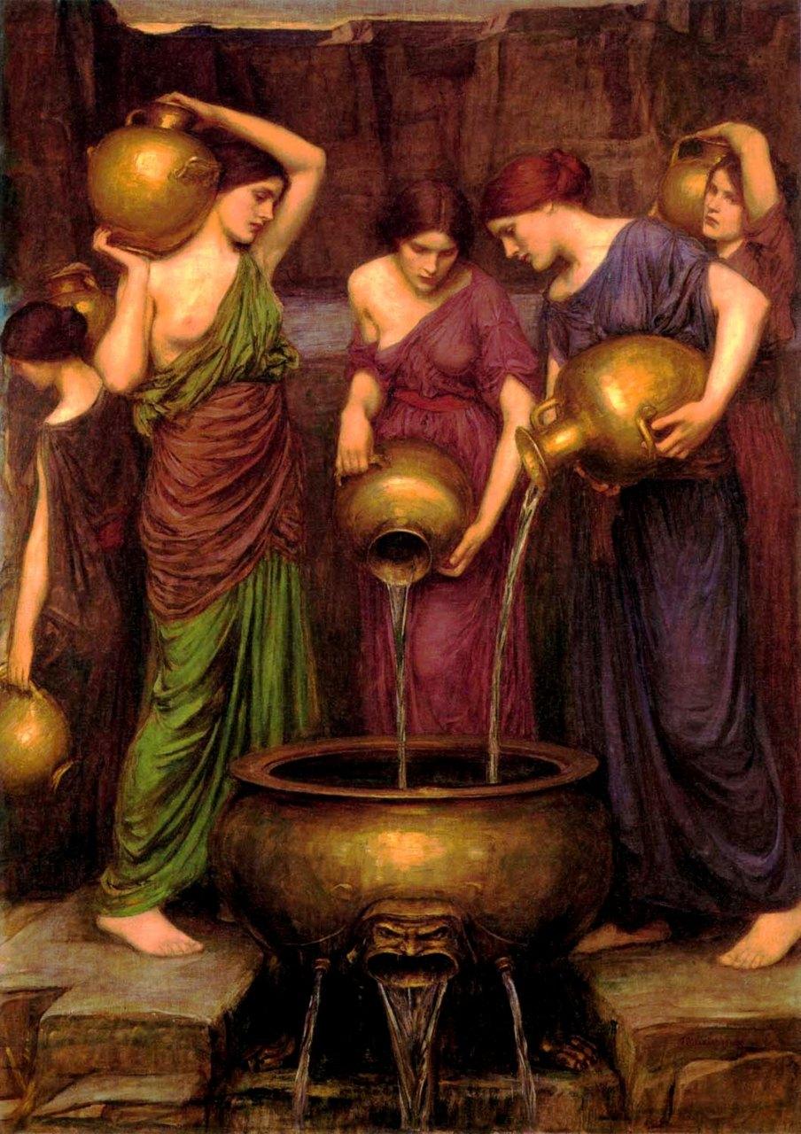 Pre Raphaelite Art  Danaides