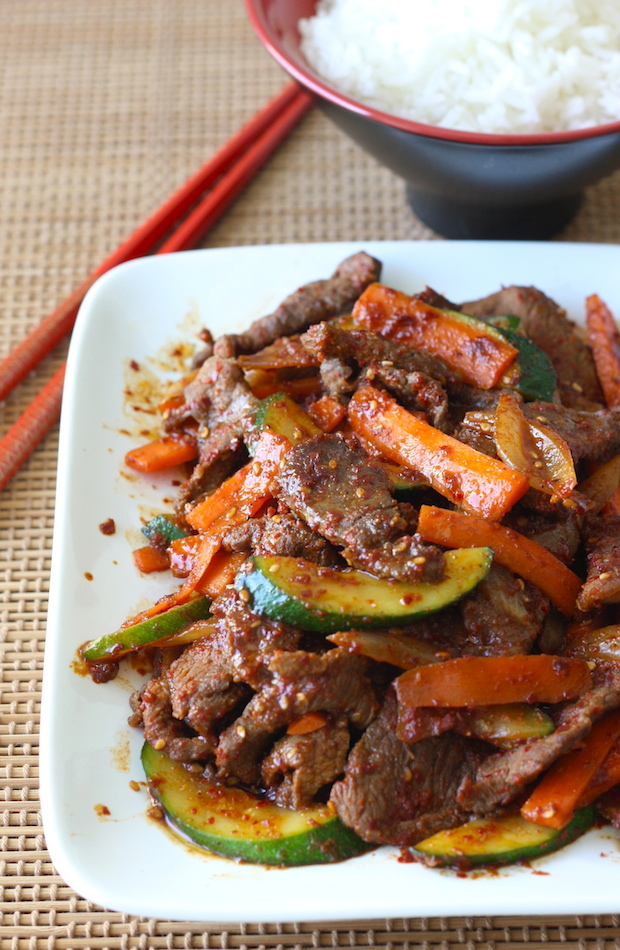Korean Beef Stir Fry at SeasonWithSpice.com