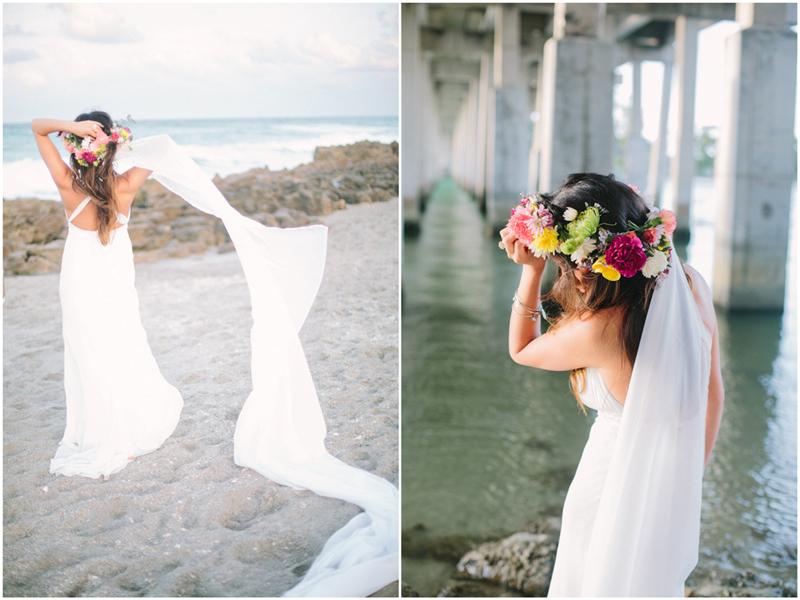 jupiter florida beach trash the dress photo