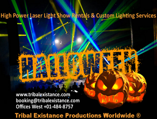 Halloween 2012 entertainment event lighting special - Halloween laser light show ...