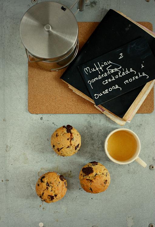 Pomarańczowe muffiny z czekoladą