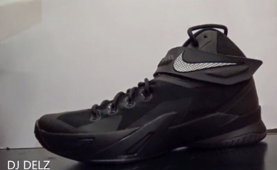 new style 165e7 34dd9 Here is a detailed look at the Nike Zoom Lebron Soldier 8 Black Grey  Sneaker available Now HERE. Watch DJ Delz review on these after the jump.