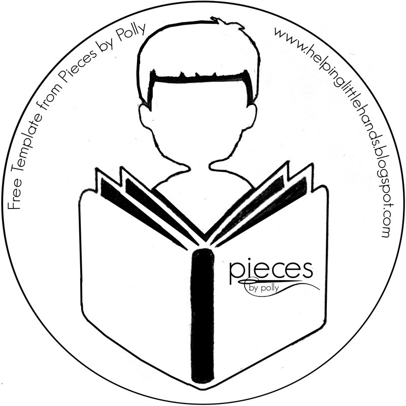 Pieces by Polly: Boy Reading Freezer Paper Stencil - Free Pattern