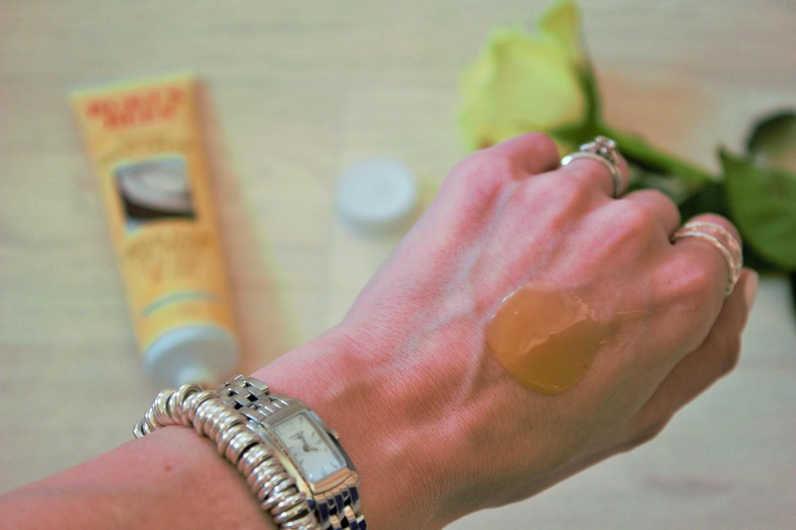 Burt's Bees Coconut Foot Cream - Swatched
