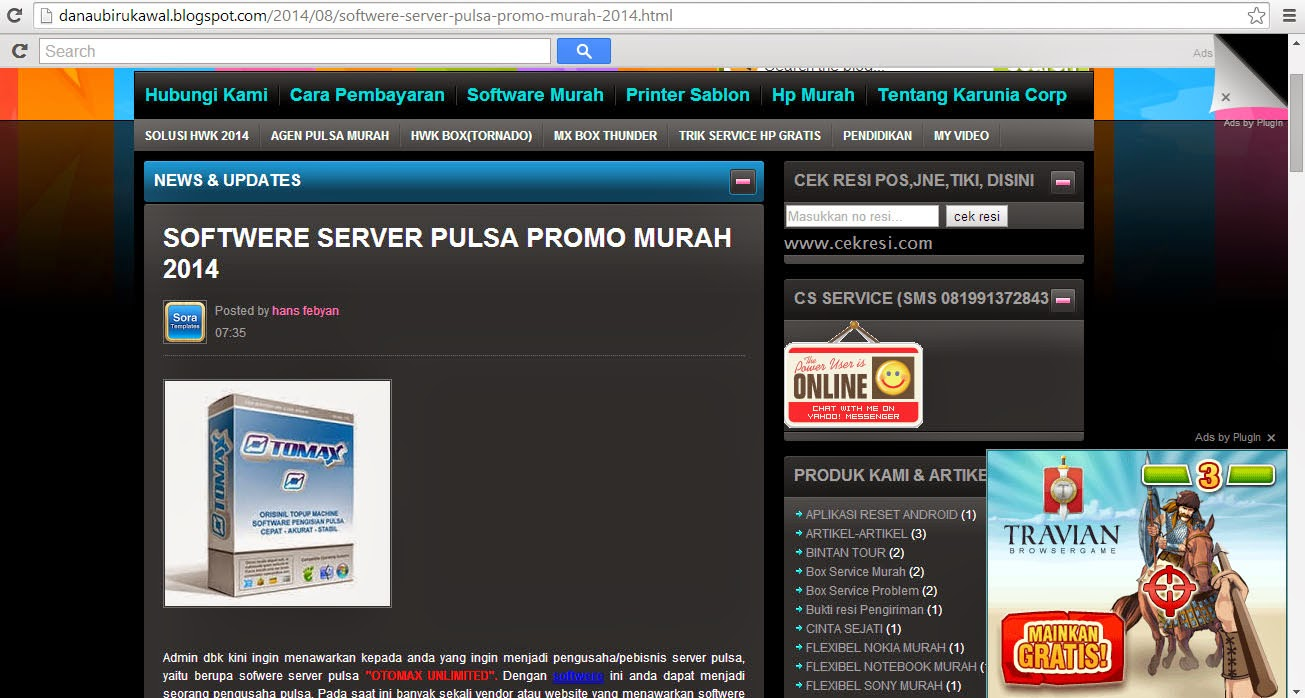 softwere pulsa promo