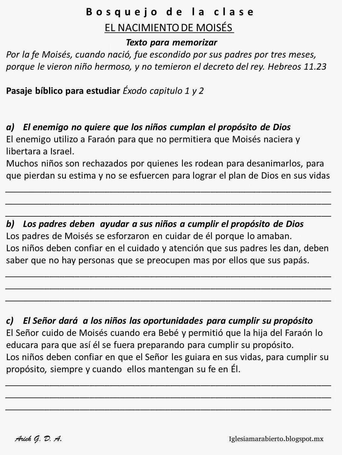 IGLESIA MAR ABIERTO: Clase Bíblica para niños - El Nacimiento de ...
