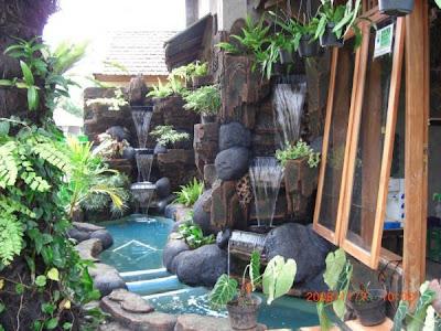 desain rumah idaman: desain taman dengan kolam ikan