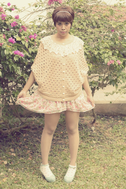 summer dress, floral dresses, lace crochet cardigan, morigirl, mori fashion, mori style, mori mori