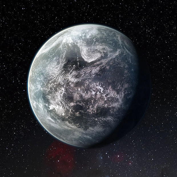 Artists's impression of the rocky super-Earth HD 85512 b