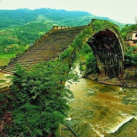 Moon Bridge, Hunan, China:
