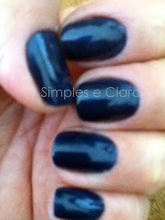 Esmalte antialérgico azul, Blog Simples e Clara