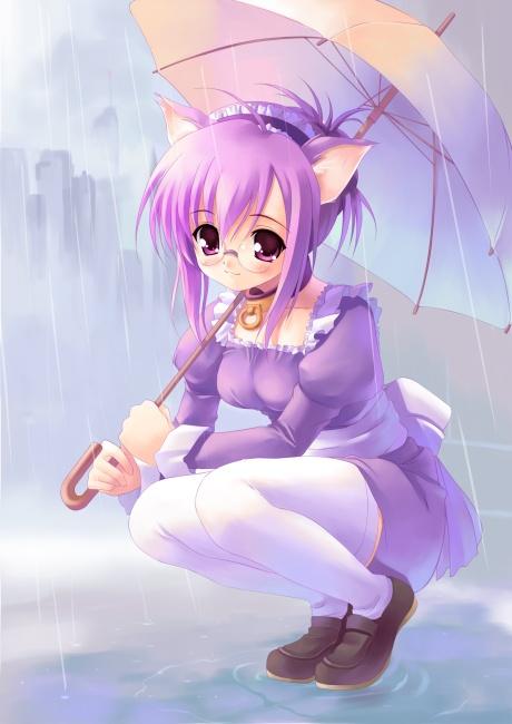 Kawaii y tierno nekos kawaiis w - Image de manga fille ...