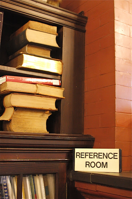 reference room at library