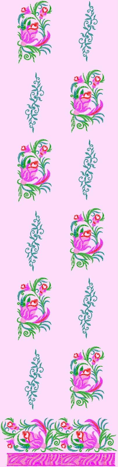 Embdesigntube Salwar Kameez Embroidery Designs With