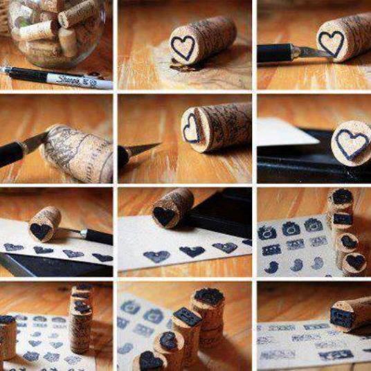 Como hacer sellos con corchos construccion y for Como se hace una pileta de material