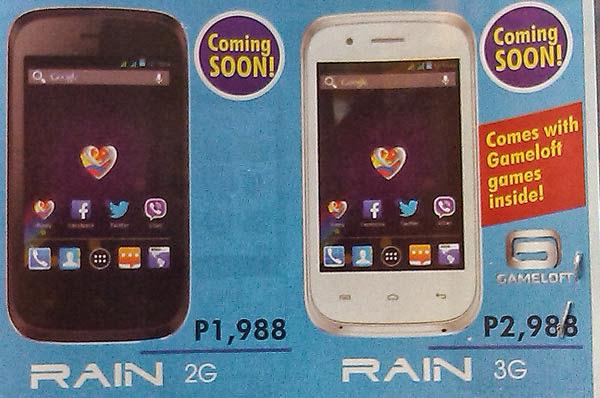 MyPhone Rain 3G and 2G Poster