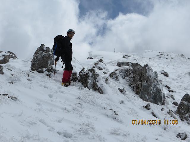 Serra di Celano, cresta ovest