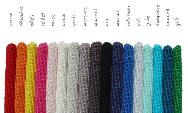17 colours cotton for crocheting et aussi