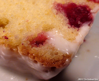 Cranberry Lemon Cake with Lemon Glaze