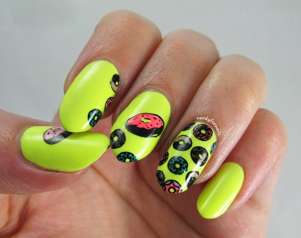 Orly Key Lime Twist Sugar High Collection with Doughnut Stamping Bundle Monster