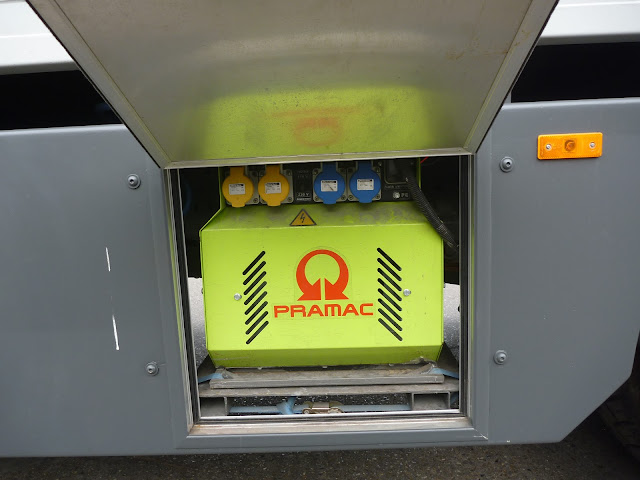 Pramac P4500 fitted to overland motorhome chassis
