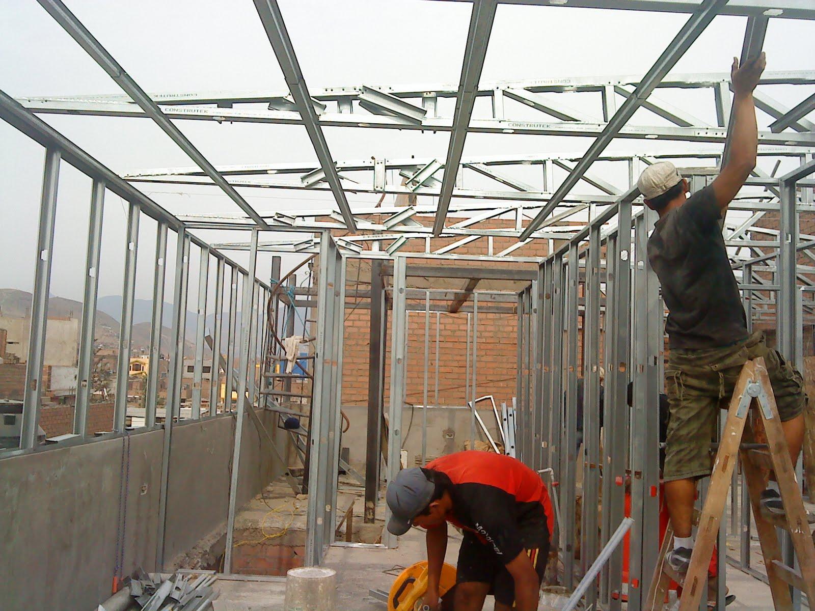 Edificaciones casas minidepartamentos drywall smp - Casas con estructura metalica ...