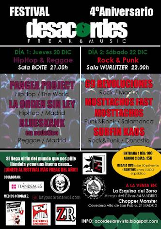 Festival IV Aniversario DESACORDES Freak & Music