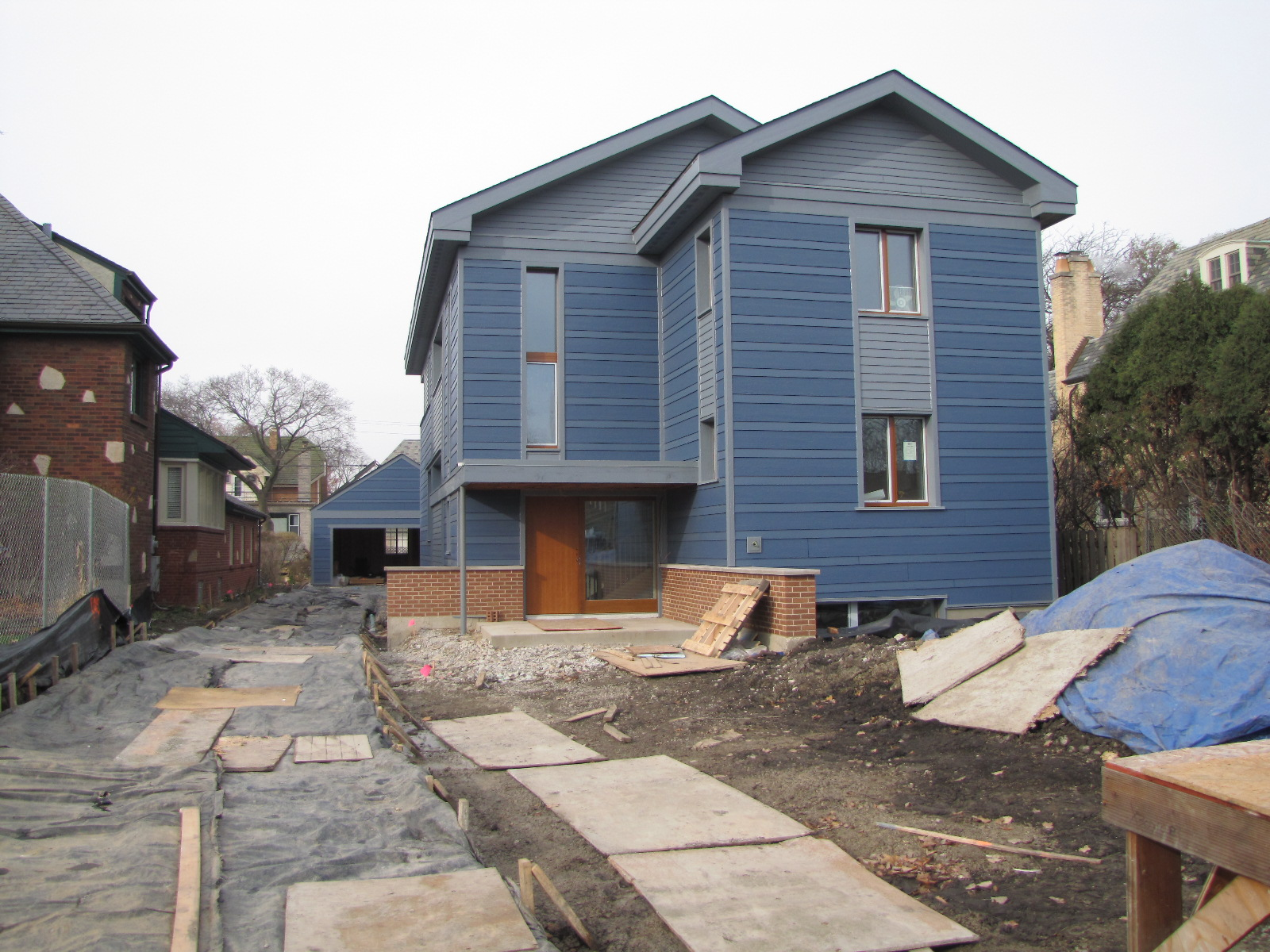 Midwestern sustainable design exterior finishes for Exterior house finishes