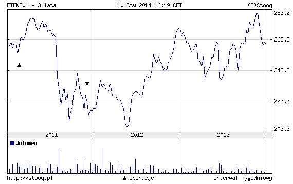 Wyniki fundusze ETF na WIG20