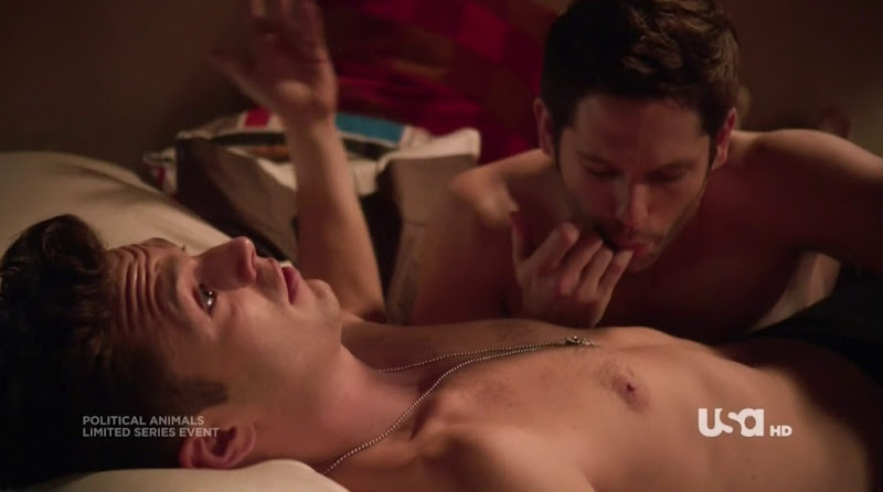 Sebastian Stan Shirtless in Political Animals s1e02