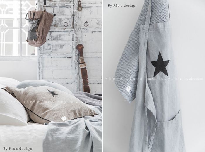 BY PIA´S Design linen for your home  bedding linen - photo Paulina Arcklin
