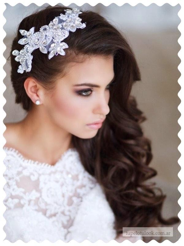 peinados 2015 para novias pelo suelto