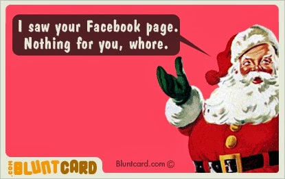 Santa Whore Christmas Card