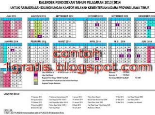 2013-2014 hari libur kalender pendidikan kurikulum