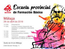 Escuela Provincial de Formación del PCA de Málaga 2018