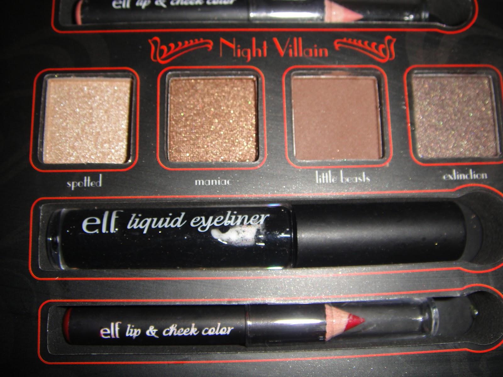 e.l.f.'s Villainous Villain: Cruella, halloween makeup, disney, villanious villains, elf, cruella, makeup kit, swatches, test