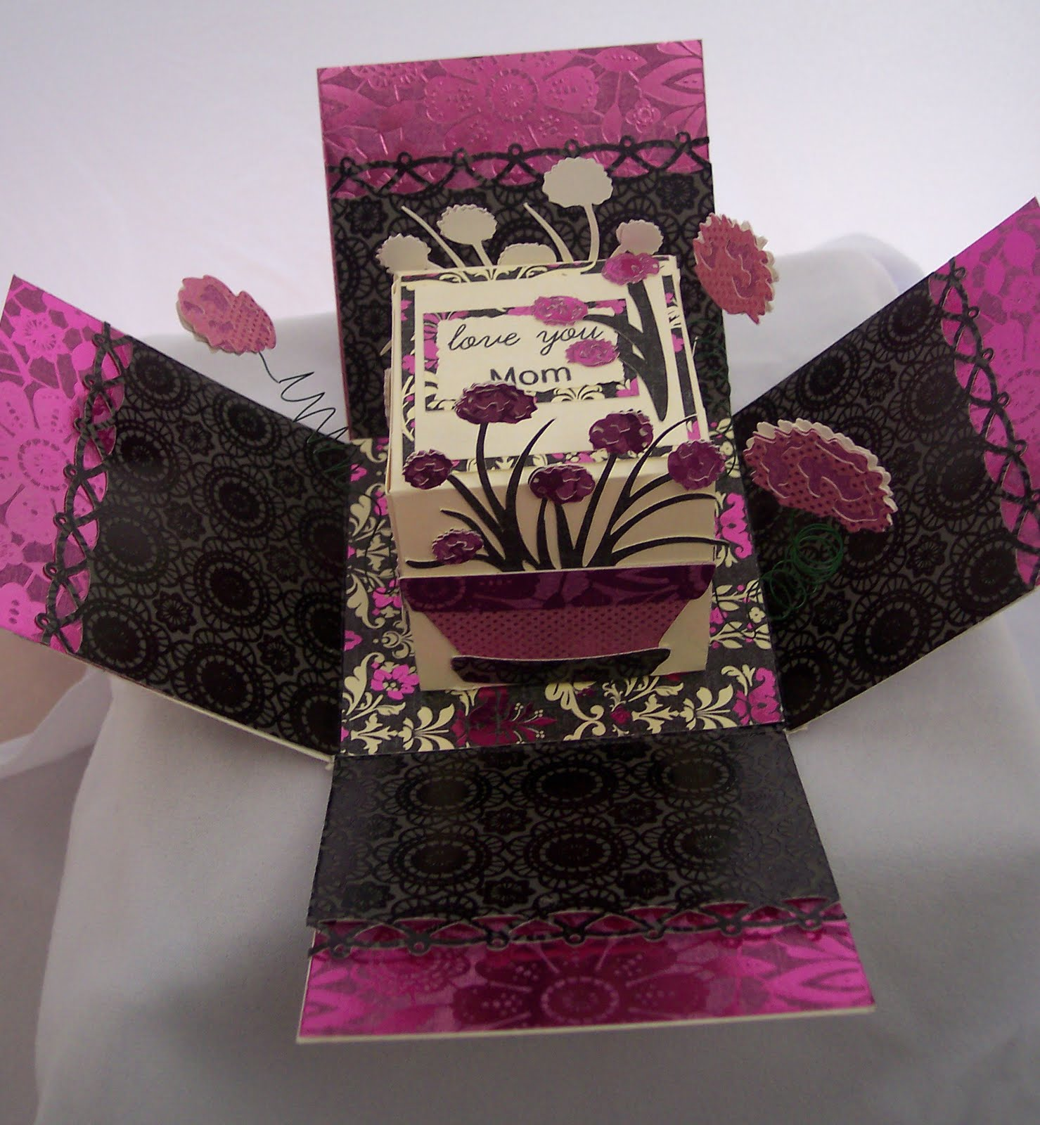 How to scrapbook a box - Photo Explosion Box