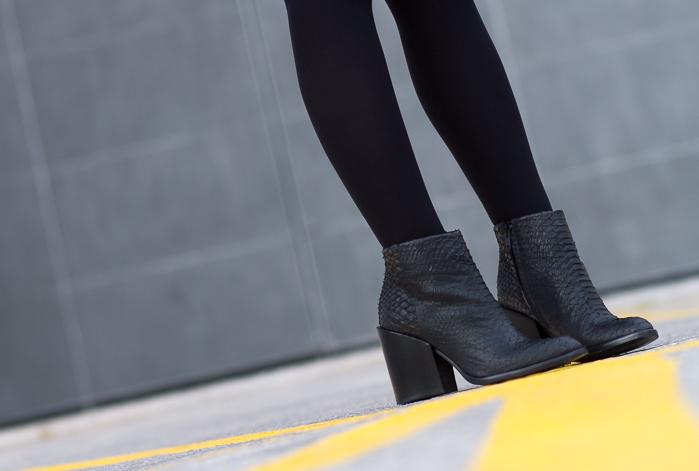 Blogger adicta a los zapatos botin tacón ancho grueso