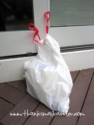 Glad garbage bag