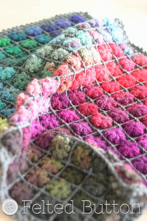 Painted Pixels Blanket Crochet Pattern