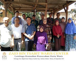 Penyelesaian Waris Keluarga Almarhum Koko Hidayat Bekasi