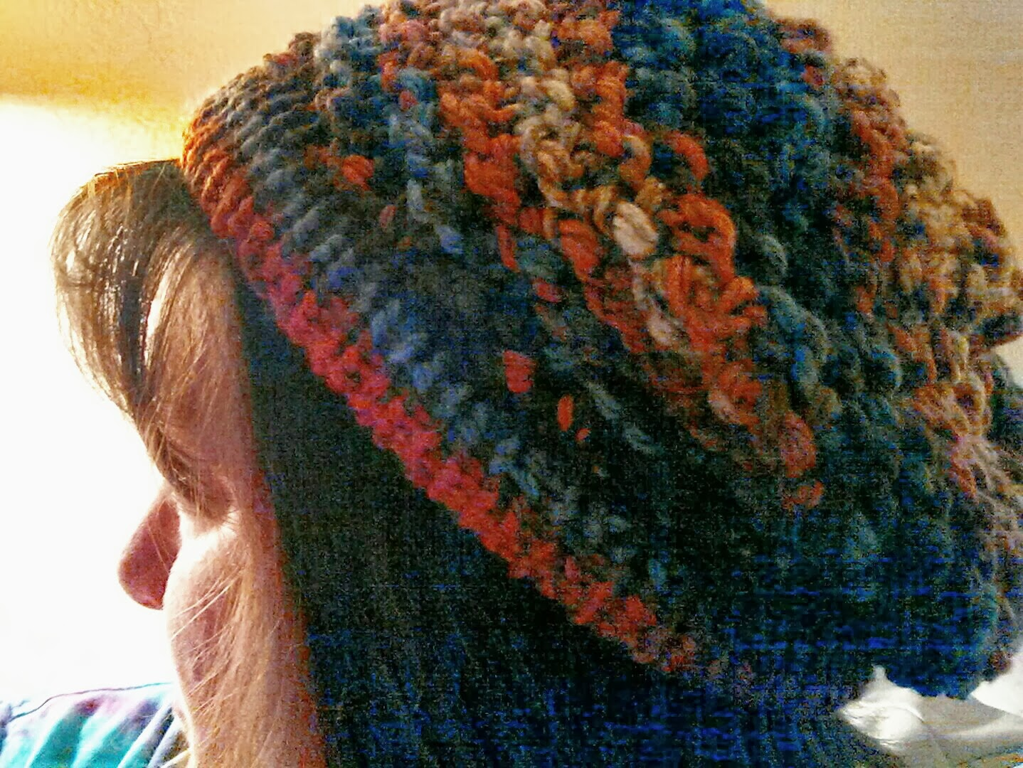 How To Loom Knit Slouchy Beanie Basketweave : Welcome to scrappin cat s creative endeavors loom knit