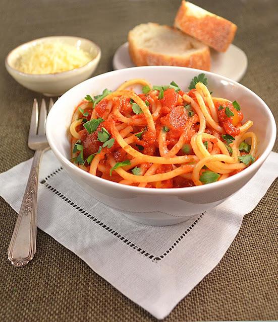 Jilly...Inspired : Spaghetti with Marinara Sauce