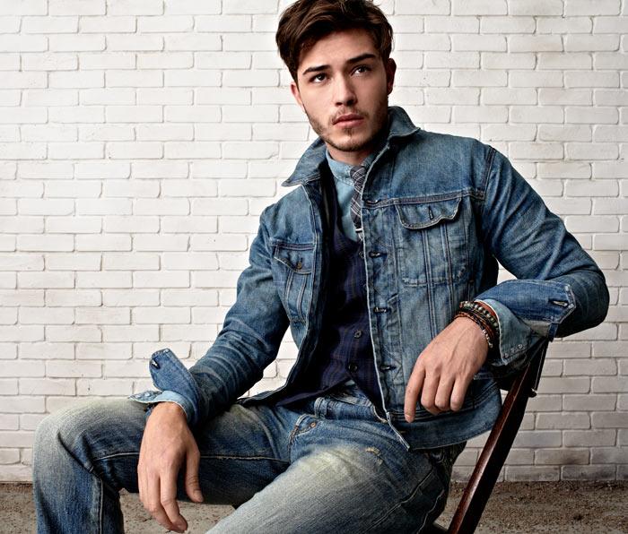 How to wear a denim jacket male
