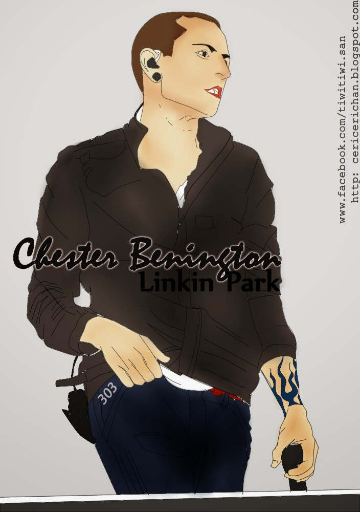 CHESTER BENINGTON, LINKIN PARK, PAINT TOOL SAI, WALLPAPER