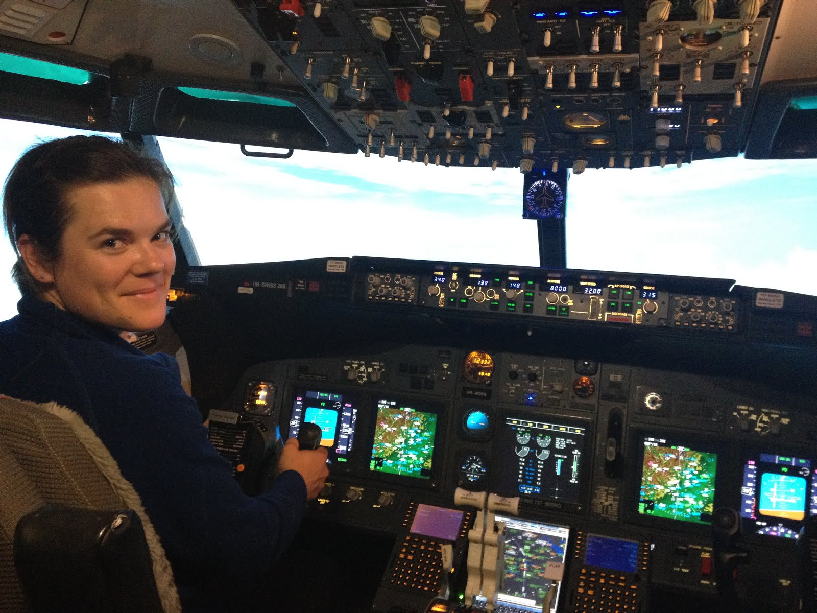 First female PIC Esther Zysset during hard flighttraining into the clouds... Well done Esthi!